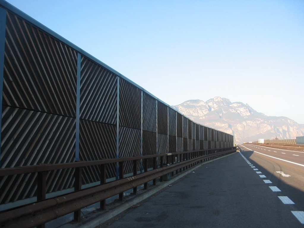 Wooden acoustic barriers