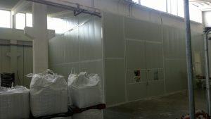 Cabina fonoisolante per impianto di macinazione