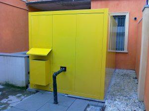 Cabina fonoisolante verniciata gialla