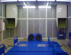 Interno cabina per banco prova motori