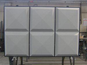 Particolare di moduli fonoassorbenti con cornice