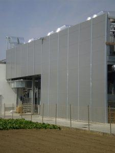 Schermatura fonoassorbente Toro Rosso edificio