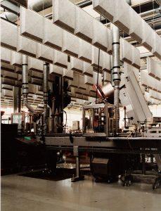 Trattamento fonoassorbente a Baffles industriale