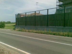 Barriera antirumore legno verde