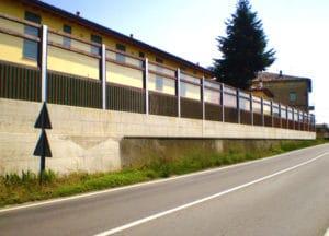Barriera antirumore in legno