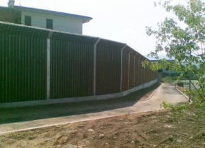 Barriera antirumore legno