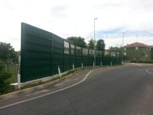 Barriera acustica verde