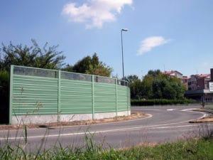 Barriera fonoisolante verde